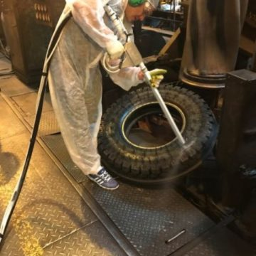 Tire cleaning